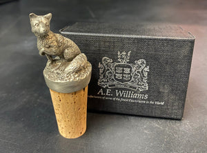 Pewter Fox Bottle Stopper