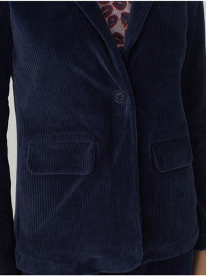 Nice Things - Elastic corduroy blazer