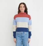 Bande Studio - Vienna Stripe Funnel Neck Knit