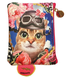De Kunstboer - Pilot Cat Coin Purse