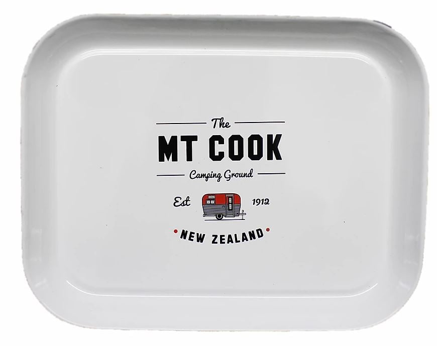 Mt Cook Camping Ground - Enamel Tray