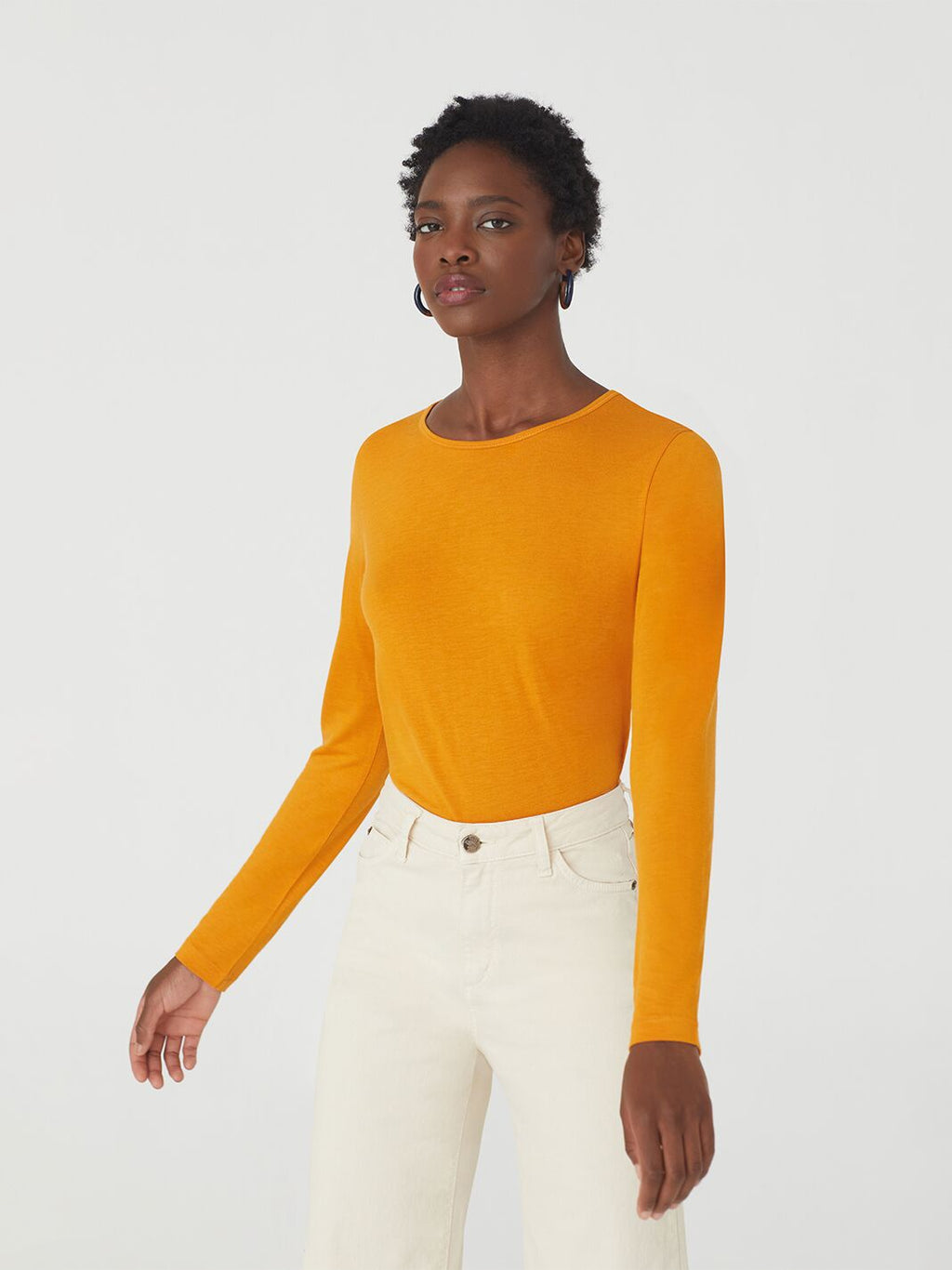 Nice Things - Wool Basic Long Sleeved Tee