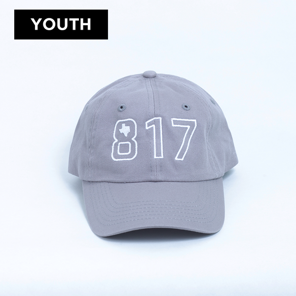 817 Texas - Youth Ball Cap - Grey