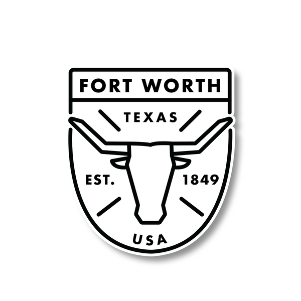 Fort Worth Badge Sticker