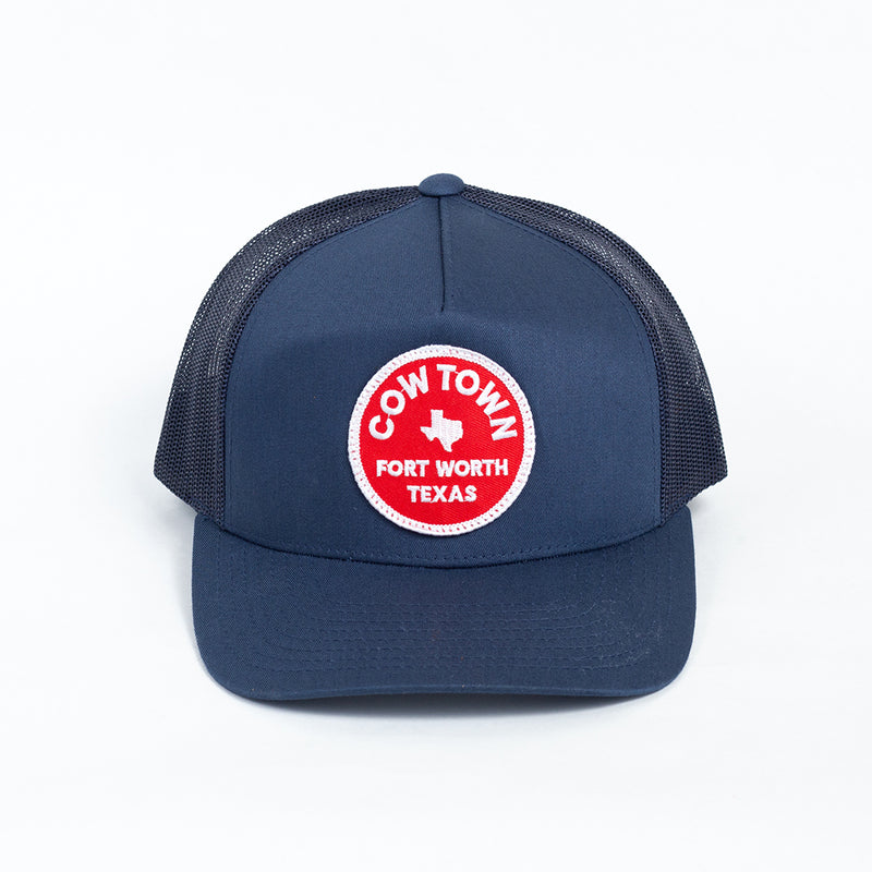 Cowtown Fort Worth Trucker Hat - Navy