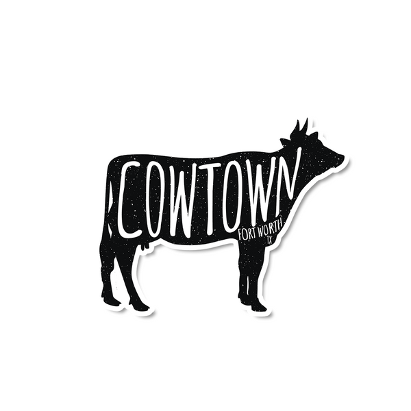 Cowtown Cow Sticker