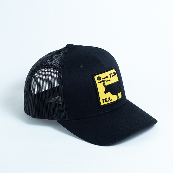 FT.W Tex. Longhorn - Trucker Hat - Black