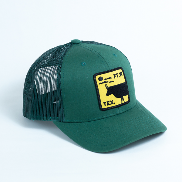 FT.W Tex. Longhorn - Trucker Hat - Evergreen