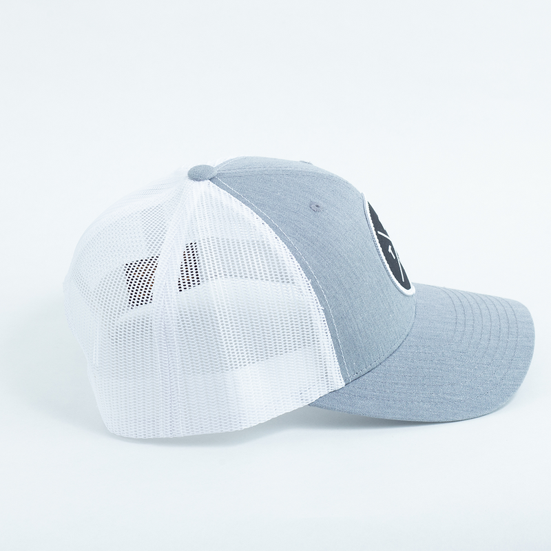 FW X TX Trucker Hat - Heather Gray - Curved Visor