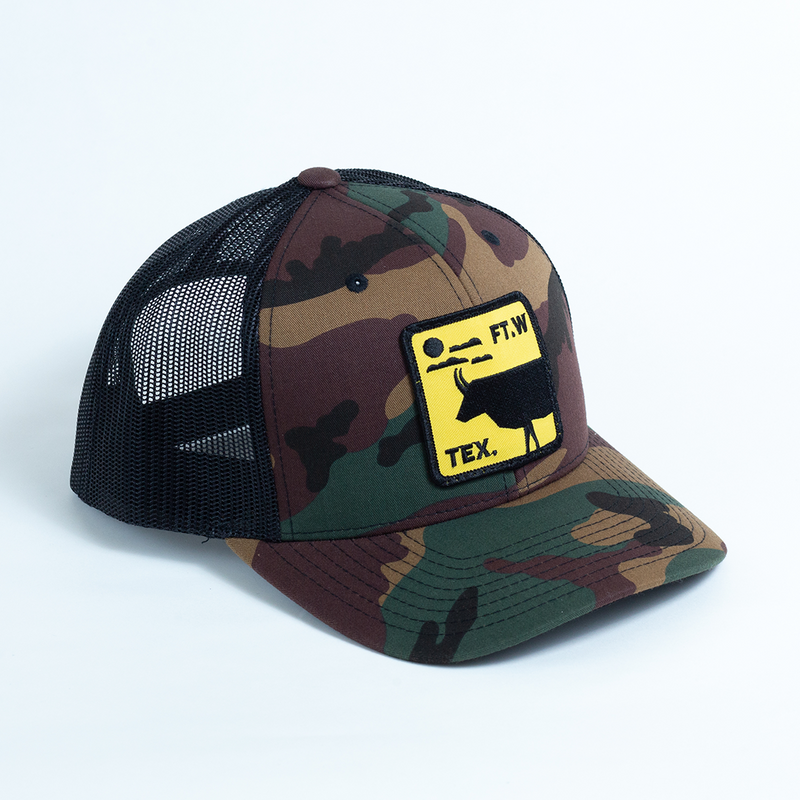 FT.W Tex. Longhorn - Trucker Hat - Camo
