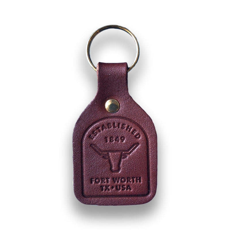 Fort Worth Badge - Leather Keychain
