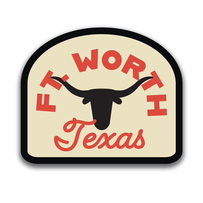 Ft. Worth Longhorn - Sticker
