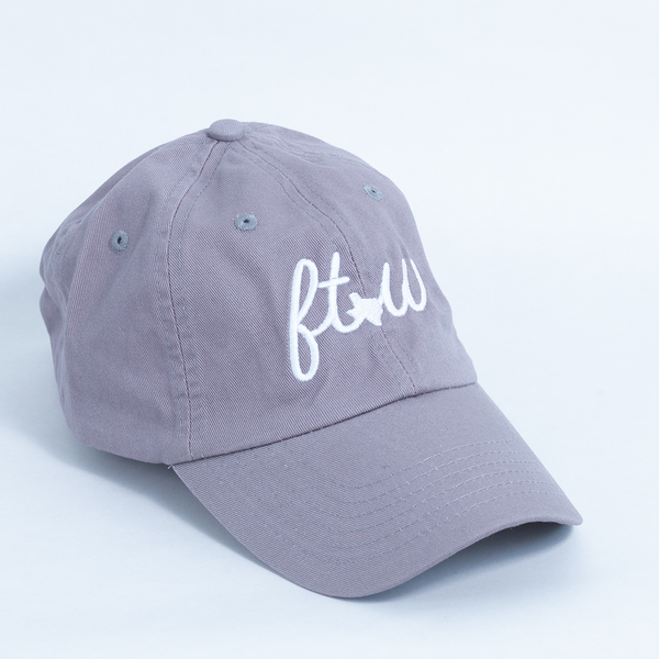 FTW Cursive - Ball Cap - Gray
