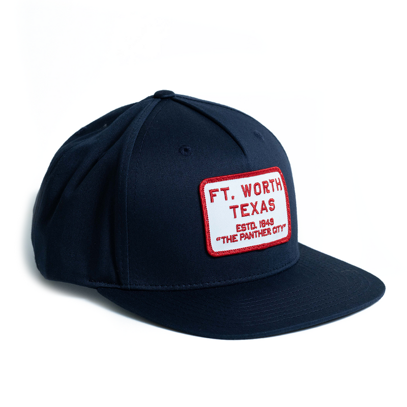Fort Worth Texas - Curved Visor Snapback - Heather Gray/White