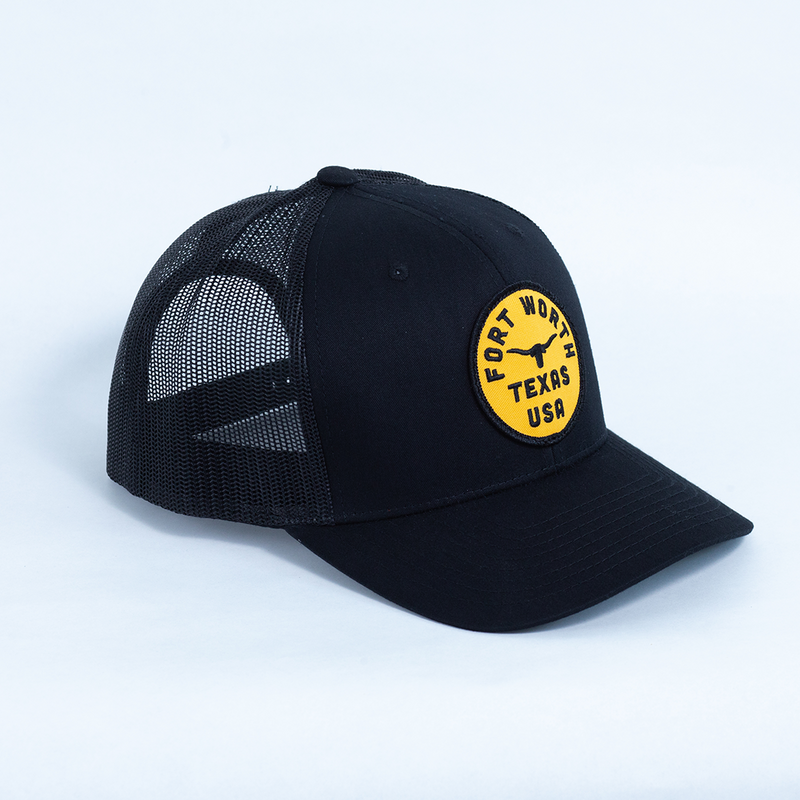 Fort Worth Texas USA - Trucker Hat - Black