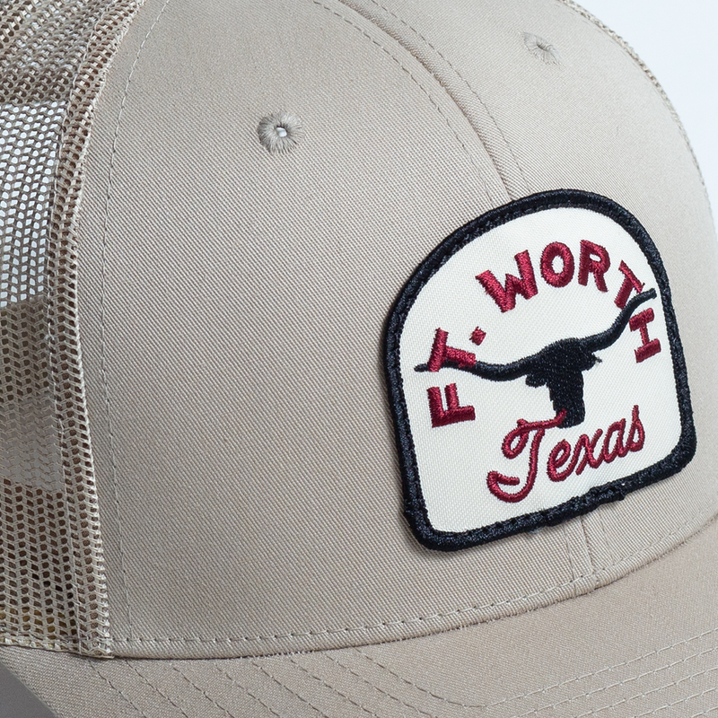 Fort Worth Texas Steer - Trucker Hat - Khaki