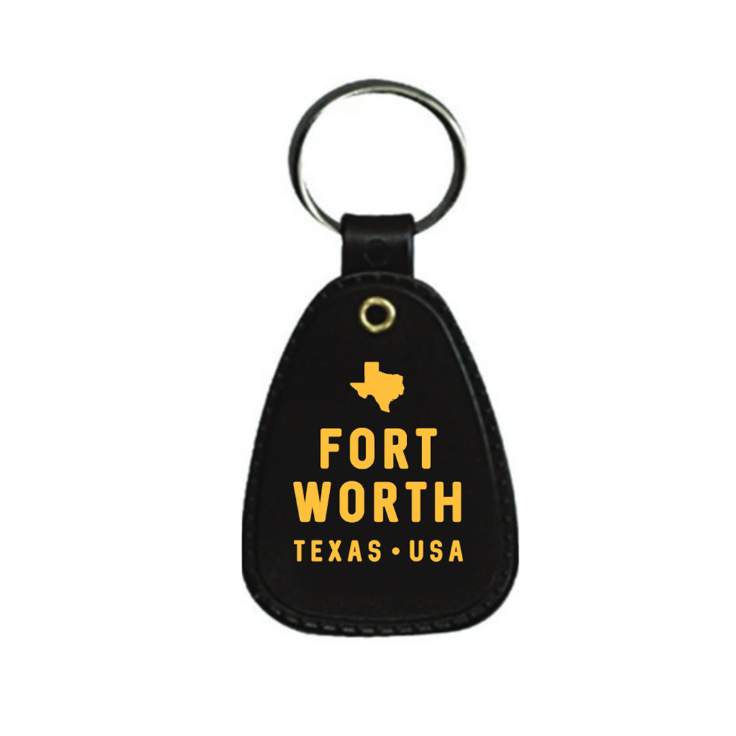 Fort Worth Retro Keychain