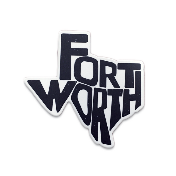 Fort Worth Texas State Sticker