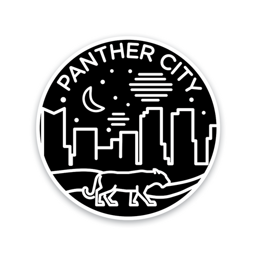 Panther City Badge Sticker