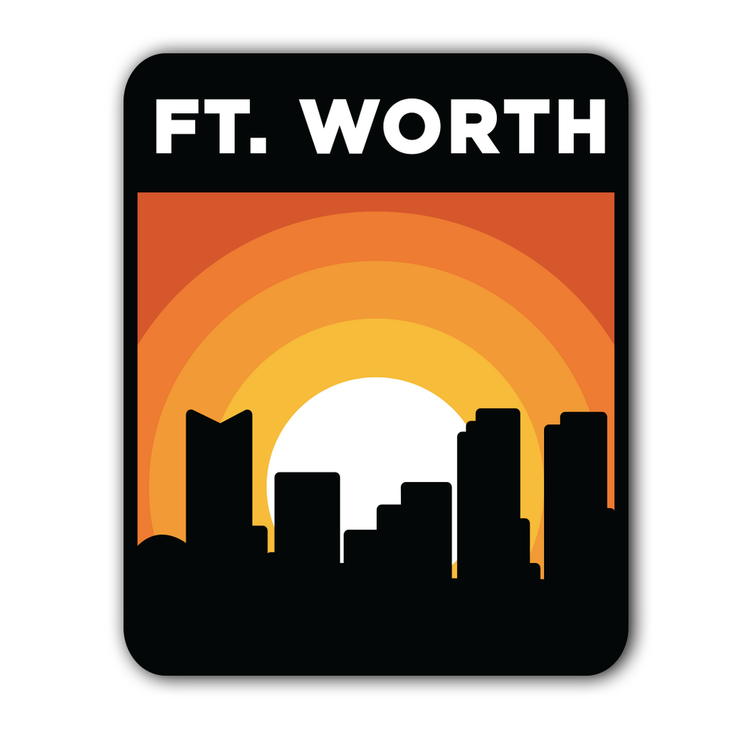 Fort Worth Sunset - Sticker