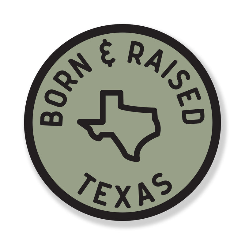 Texas Born & Raised - Sticker