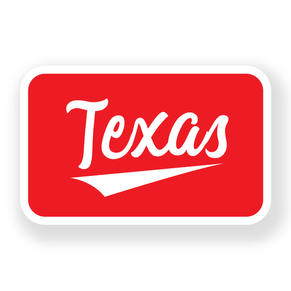 Texas Retro - Sticker