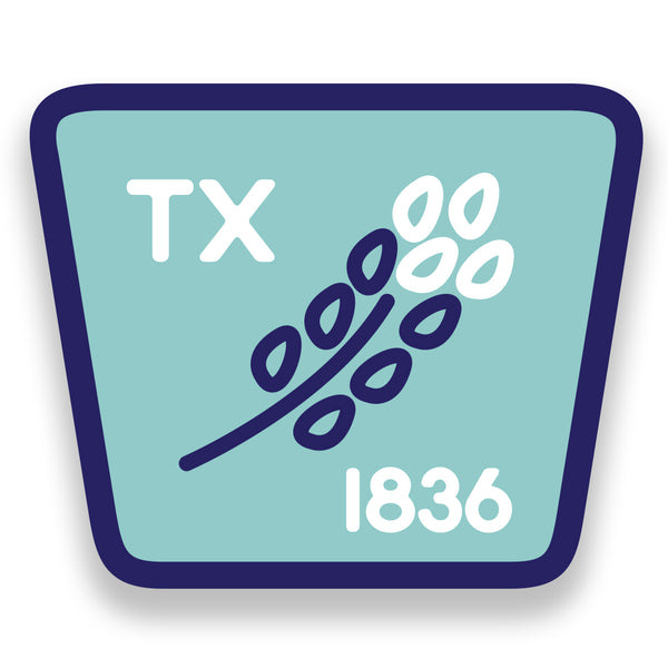 TX 1836 Bluebonnet - Sticker