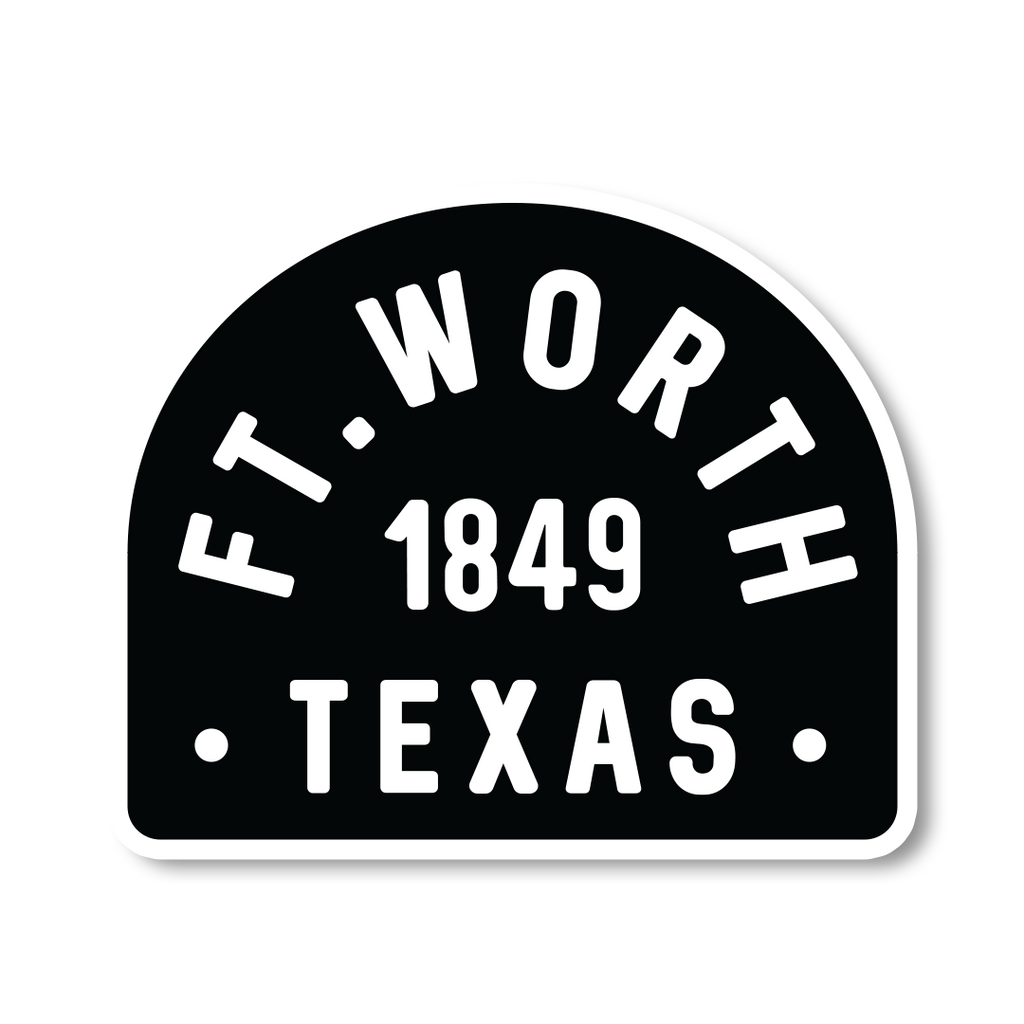 Ft. Worth 1849 Badge Sticker