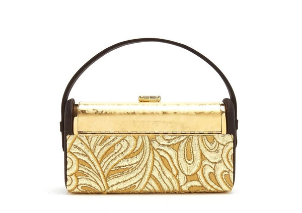 Régine Minaudière in Gold Brocade