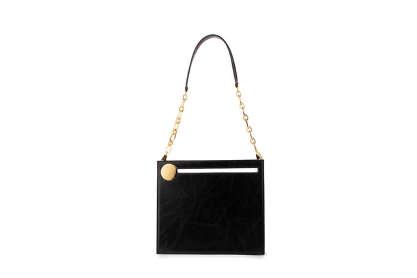 Max Clutch in Black Leather