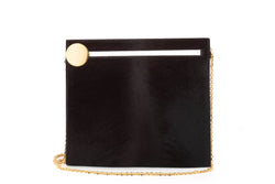 Max Clutch in Chocolate Brown Calf Hair