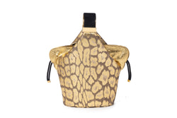 Kit Bracelet Bag in Leopard Foiled Etched Kid Leather