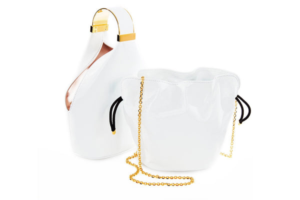 Kit Bracelet Bag in White Leather