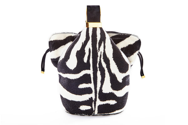 Kit Bracelet Bag in Zebra Printed Calf Hair