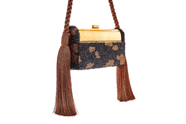 Régine Tassel Minaudière in Copper Cherry Blossom Lurex