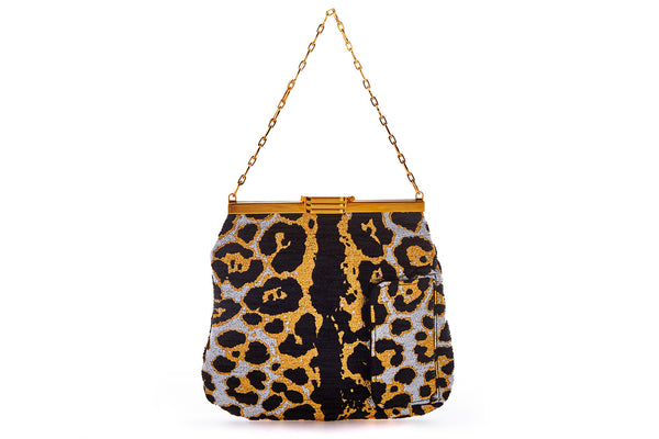 4 AM Bag in Leopard Lurex Chenille