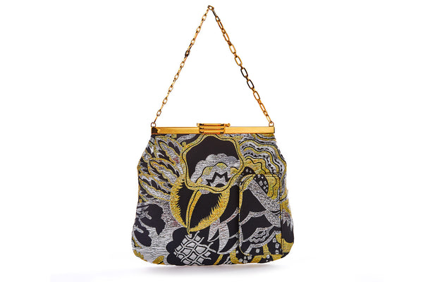 4 AM Bag in Gold Art Disco Metallic Lurex Jacquard