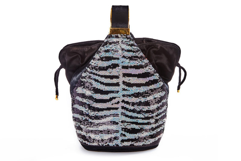 Kit Bracelet Bag in Zebra Sequins
