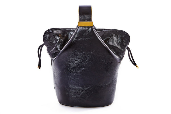 Kit Bracelet Bag in Black Leather