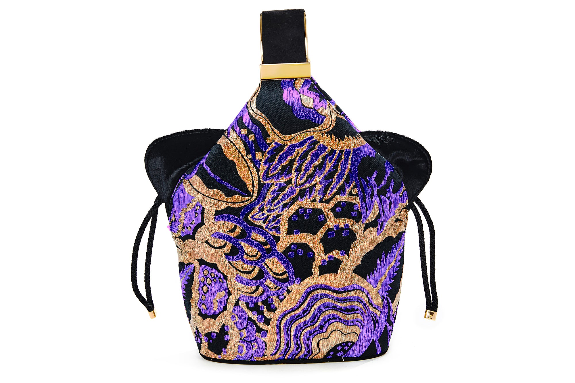 Kit Bracelet Bag in Purple Art Disco Metallic Lurex Jacquard