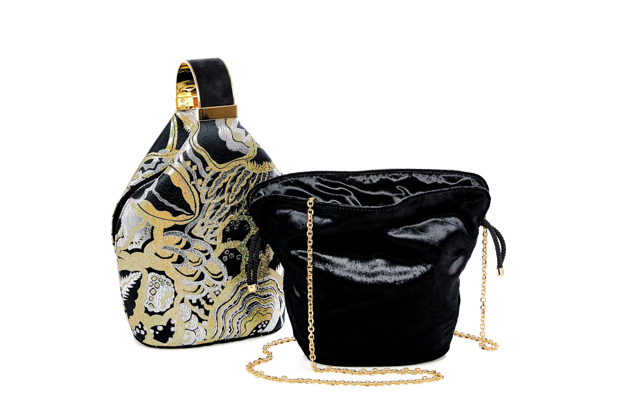 Kit Bracelet Bag in Gold Art Disco Metallic Lurex Jacquard