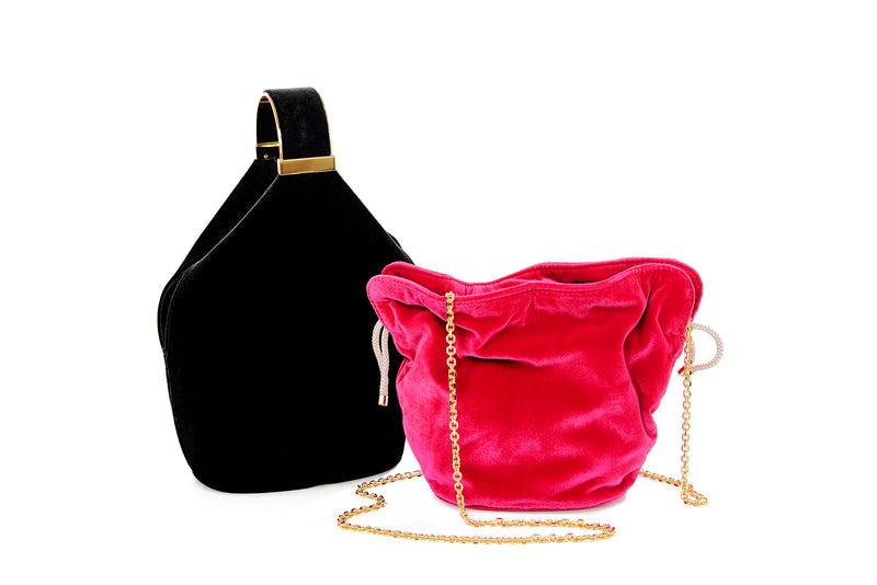 Kit Bracelet Bag in Black Velvet