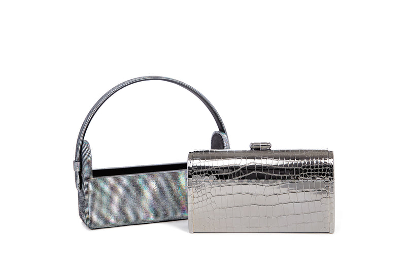 Régine Minaudière in Titania Holographic Leather