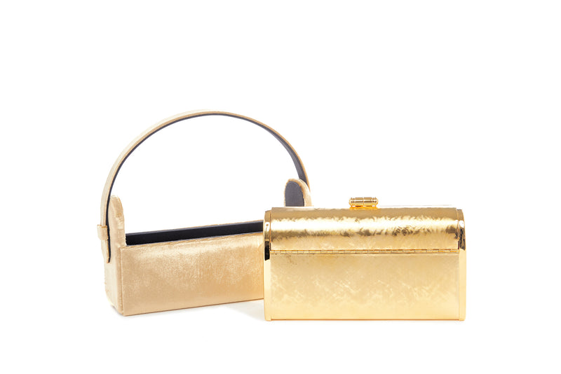 Régine Minaudière in Gold Crushed Velvet