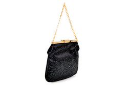 4 AM Bag in Black Odyssey Satin and Crystal