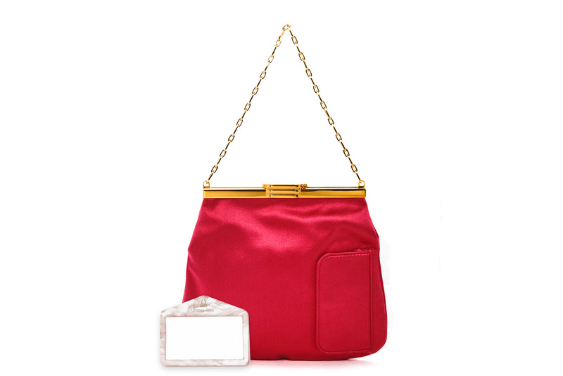 4 AM Bag in Cherry Satin