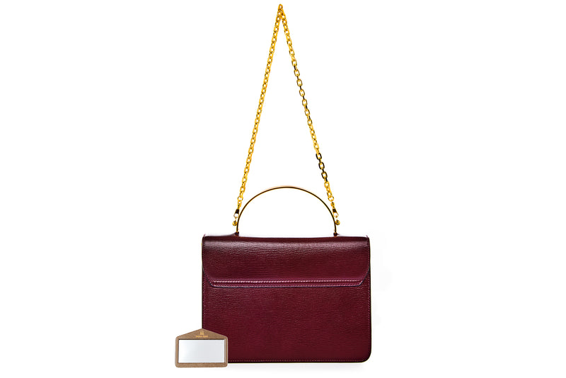 Charlie Top Handle Bag in Velvet Cherry Palmellato