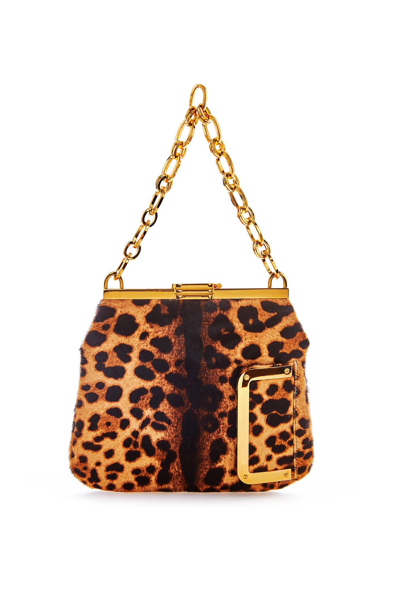5 AM Bag in Leopard Printed Calf Hair