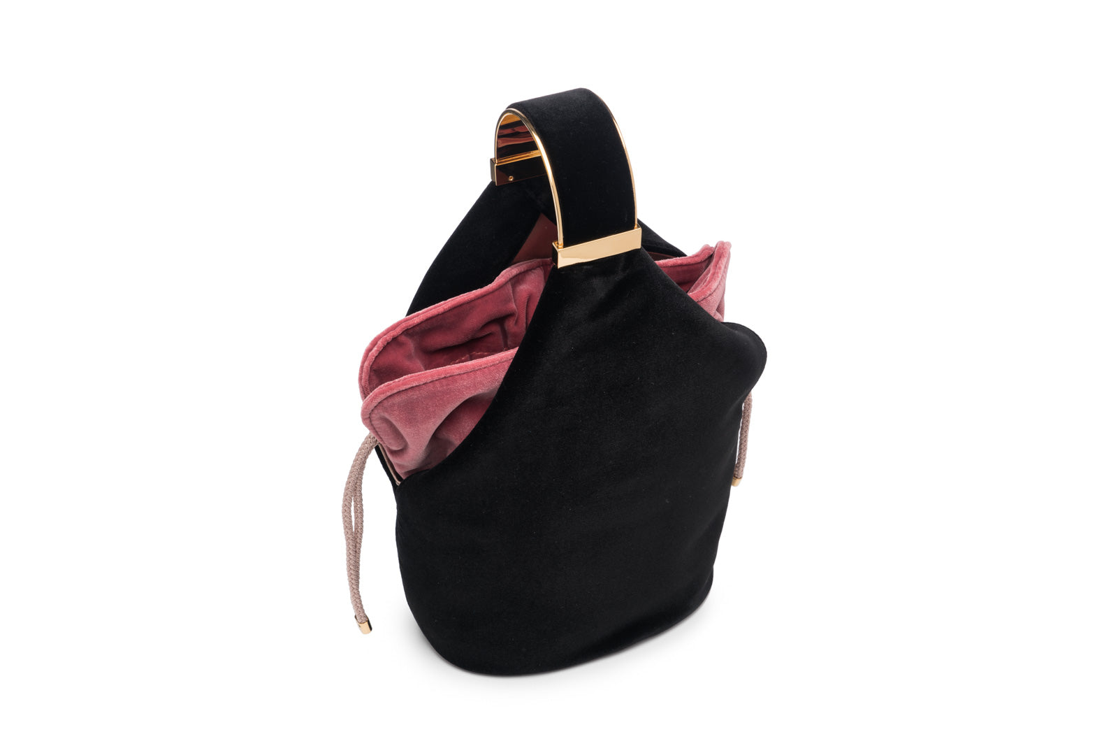 Kit Bracelet Bag in Black Velvet with 24K Gold Finished Hardware