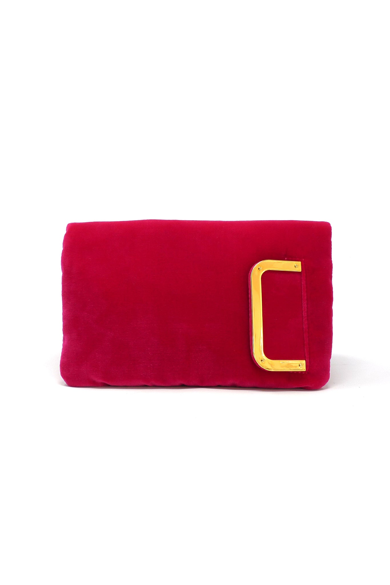 Aperitivo Clutch in Hot Pink Velvet